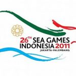 logo Official Airlines SEA Games XXVI di pesawat Garuda Indonesia