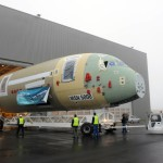 First Airbus A350 Hitches A Ride To the Factory