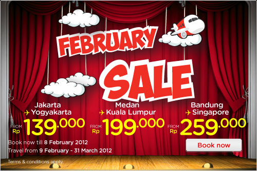 Promo Tiket Air Asia bulan Pebruari