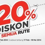 Promo AirAsia, Diskon 20% Semua Kursi, Semua Penerbangan