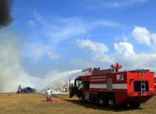 Simulasi Pemadam Kebakaran Bandara Ngurah Rai