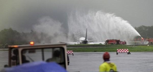 Pesawat Sriwijaya Tergelincir di Bandara Adisutjipto