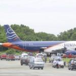 Batavia Air Terperosok, Bandara Sepinggan Sempat Tutup