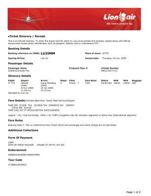 Tiket Pesawat - Panduan Naik Pesawat
