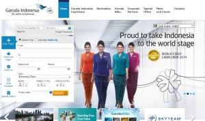 Website Garuda Indonesia Tampil Baru